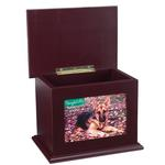View Image 2 of Peaceful Pet Memorial Mahogany Keepsake Chest