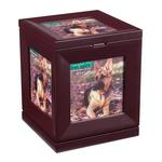 View Image 1 of Peaceful Pet Revolving Mahogany Memorial Box