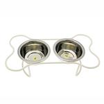 View Image 1 of Petite Bone Dog Diner - Antique White