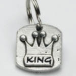 View Image 1 of Pewter Dog Collar Charm or Cat Collar Charm: King