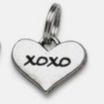 Pewter Dog Collar Charm Charm: XOXO (Hugs & Kisses)
