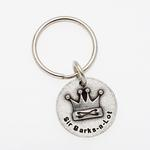 View Image 1 of Pewter Pet Lover Keychain - Sir Barks A Lot
