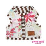 View Image 2 of Picnic Pinka Dog Harness by Pinkaholic - Brown