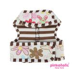 View Image 3 of Picnic Pinka Dog Harness by Pinkaholic - Brown