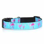 Pink Flamingos Dog Collar