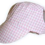 View Image 1 of Pink Gingham Visor Cap