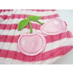 View Image 3 of Pink Stripe Cherry Hooded Shirt by Hip Doggie