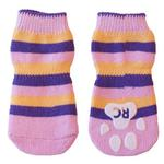View Image 1 of Pink Stripes PAWks Dog Socks