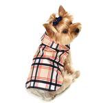 View Image 1 of Plaid Dog Raincoat - Tan