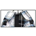 View Image 2 of Plaid Dog Shirt - Blue