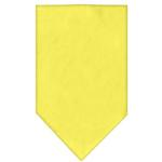 Plain Dog Bandana - Yellow