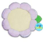 View Image 1 of Plush Flower Dog Bed - Pink