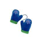 View Image 1 of Plush Mittens with Squeaker Dog Toy - Blue
