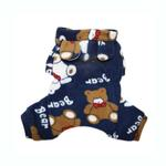 View Image 2 of Plush Teddy Bear Fleece Dog Pajamas by Klippo