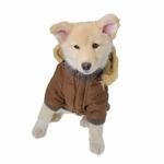 View Image 2 of Pocket Dog Parka by Dogo - Brown