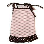 View Image 1 of Polka Dot Dog Dress by Gooby - Pink & Brown