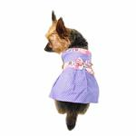View Image 2 of Polka Dot Dog Sundress by Gooby - Periwinkle