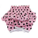 View Image 1 of Polka Dot Ruffles Dog Panties - Pink and Black