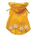 View Image 1 of Polka Dots & Daisies Dog Raincoat by Klippo