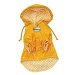 View Image 2 of Polka Dots & Daisies Dog Raincoat by Klippo