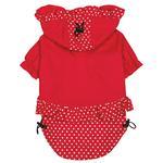 View Image 3 of Polka Dots and Ruffles Raincoat - Red