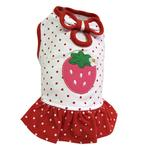 View Image 1 of Polka Dots Strawberry Dog Dress by Klippo