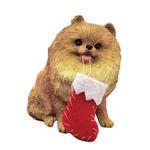 View Image 1 of Pomeranian with Stocking Christmas Ornament