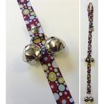 Poochie Bells Fashionable Dog Doorbell - Lava Lamp Cherry