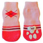 View Image 1 of Preppy Girl PAWks Dog Socks - Pink