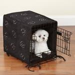 ProSelect Pawprint Crate Cover and Bed Set - Black