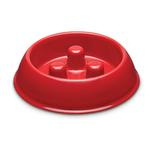 View Image 2 of ProSelect Plastic Slow Feeder Dog Bowl - Red