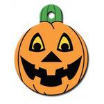 Pumpkin Engravable Pet I.D. Tag