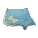 View Image 1 of Puppy Blanket and Toy Set - Blue