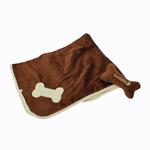 View Image 1 of Puppy Blanket and Toy Set - Brown