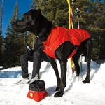 View Image 3 of Quinzee Insulated Dog Jacket by RuffWear - Red Rock