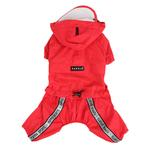 View Image 1 of Race Track Rainsuit by Puppia - Red