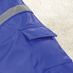View Image 2 of Rain Jacket with Reflective Strip - Blue