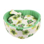 View Image 2 of Ramona Heart Dog Bed by Pinkaholic - Green