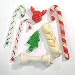 View Image 2 of Ranch Rewards Rawhide Holiday Dog Stockings