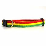 View Image 1 of Rasta Stripe Dog Collar