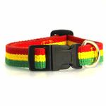 View Image 2 of Rasta Stripe Dog Collar