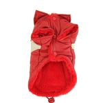 View Image 2 of Red Puffy V Dog Coat by Hip Doggie