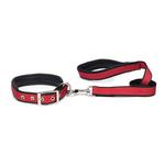 View Image 2 of Reflective Cushion Dog Collar by Zack & Zoey - Red