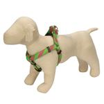 View Image 1 of Ribbon Collegiate Stripe Dog Harness - Pink and Lime
