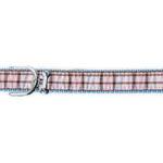 View Image 1 of Ribbon London Plaid Blue Dog Collar