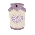 View Image 1 of Riley Dachshund Hooded Dog Shirt by Puppia - Ivory