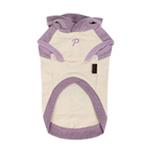 View Image 2 of Riley Dachshund Hooded Dog Shirt by Puppia - Ivory