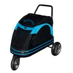 View Image 1 of Roadster Pet Stroller - Black/Blue