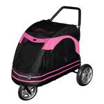 View Image 1 of Roadster Pet Stroller - Black/Pink