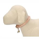View Image 1 of Rolled Pink Leather Dog Collar